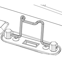USB cable retainer
