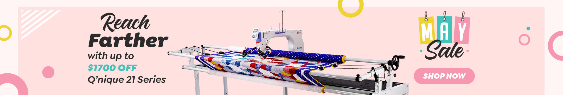 All machines on sale. Save Hundreds! Plus recieve a free quilters kit worth over $297