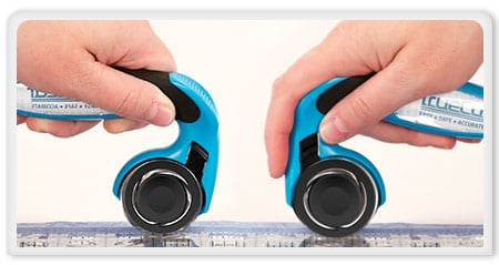 left and right handed rotary cutter