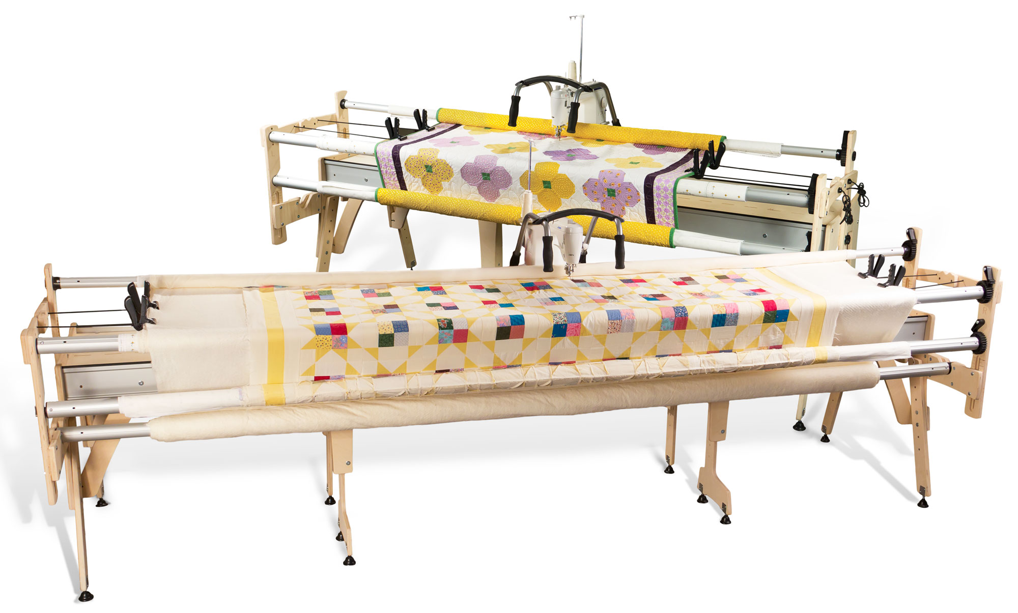 how to build a machine quilting frame