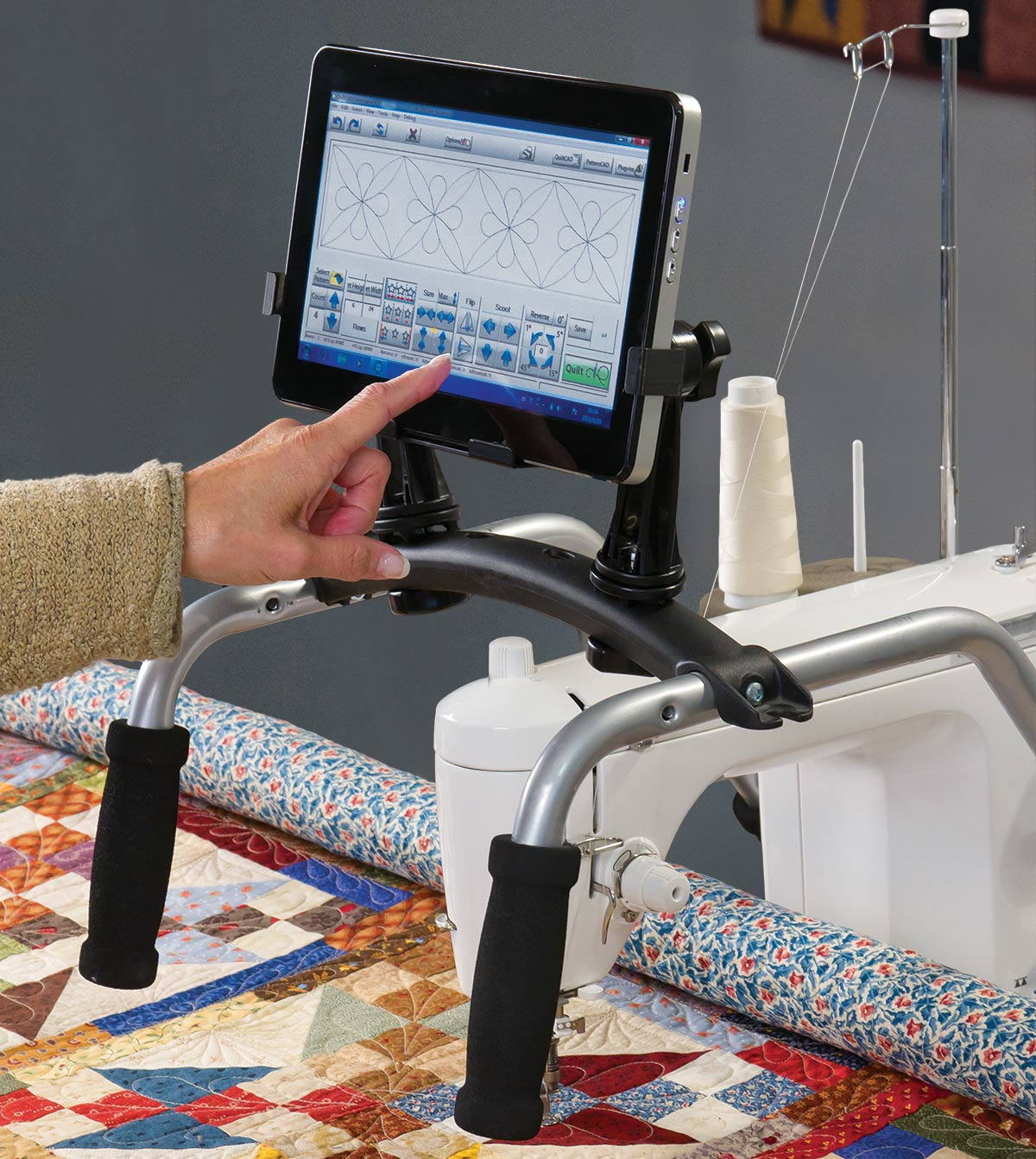 QCT on domestic quilting machine