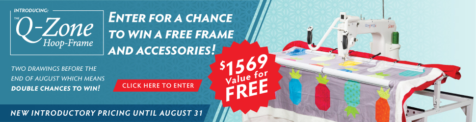 Enter to win a free quilting frame