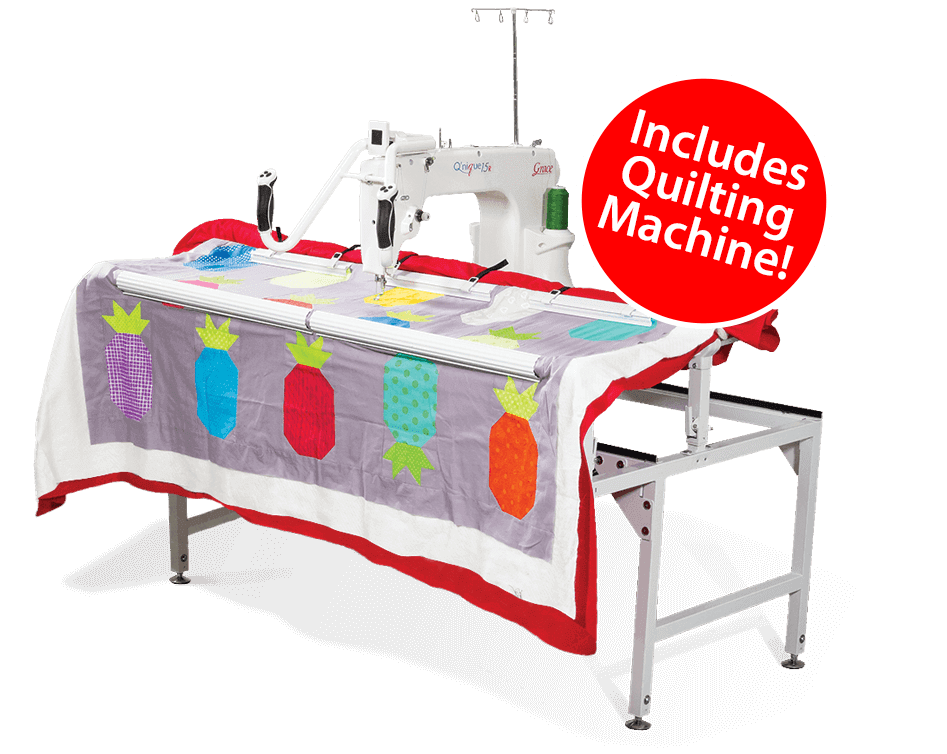 Q-Zone Hoop-Frame with Qnique 15R quilting machine