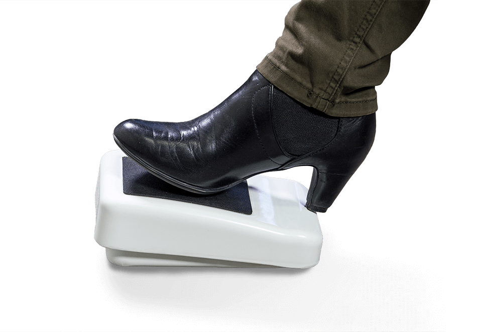 Sit-down foot pedal