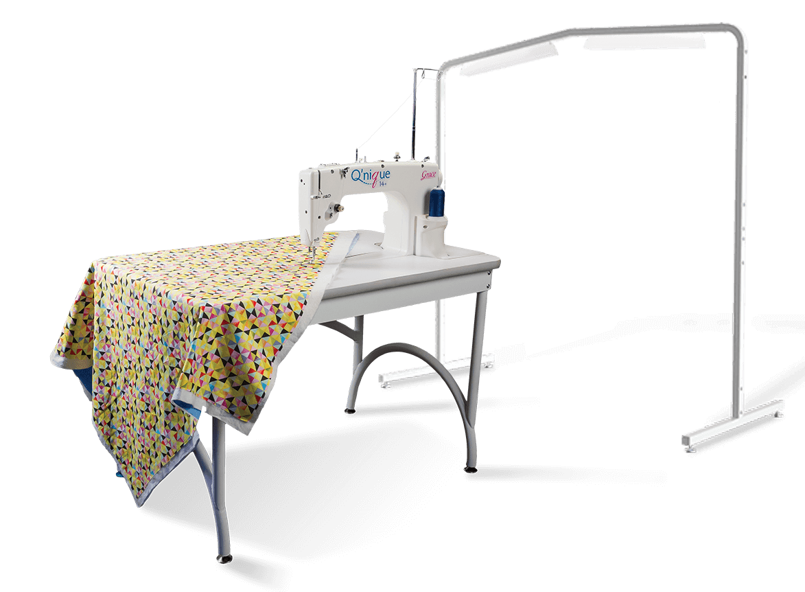 Qnique21 10ft frame quilting system