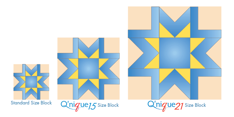 machine quilting block sizes