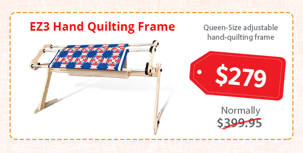 Sale on the EZ3 hand quilting frame
