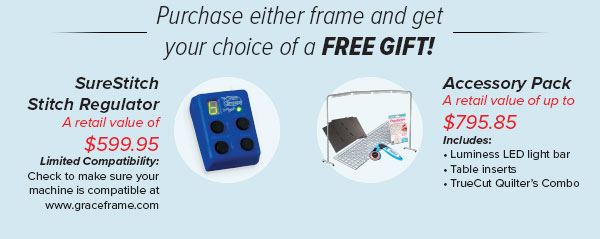 Your choice of one of two free gifts with purchase